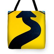 Wavy Arrow Concept Of Winding Road To Success Tote Bag