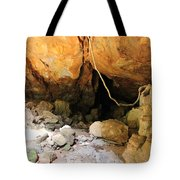 Way In The Cave Tote Bag