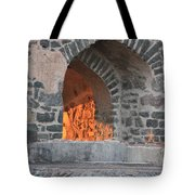 Way To The Fireplace Tote Bag