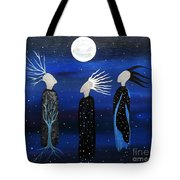 We All See The Same Moon Tote Bag