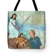 We All Went Punting In Progress Tote Bag