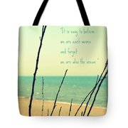 We Are Also The Ocean Tote Bag by Poetry and Art