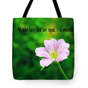 We Are Equal Tote Bag