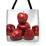 We Are Family - 6 Red Apples - Fresh Fruit - An Apple A Day - Orchard Tote Bag