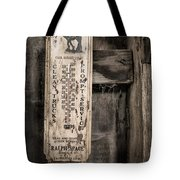 We Buy Old Horses - Vintage Thermometer Tote Bag