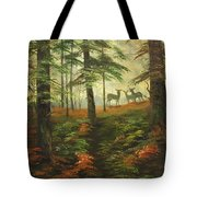 We Know That Stags Here Somewhere Tote Bag