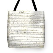 We The People Constitution Page 1 Tote Bag