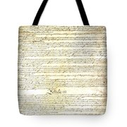 We The People Constitution Page 3 Tote Bag