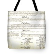 We The People Constitution Page 4 Tote Bag