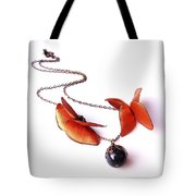 Wearable Art . Never Ending Love . One Of A Kind Necklace Tote Bag by Marianna Mills