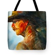 Weathered Cowboy Tote Bag