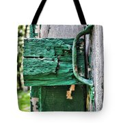 Weathered Green Paint Tote Bag