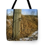 Weathered Old Fence Post Tote Bag