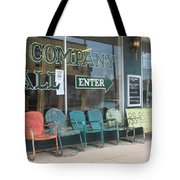 Weathered Old Lawn Chairs Tote Bag