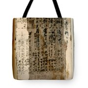 Weathered Pages Tote Bag