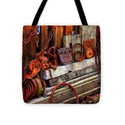 Weathered Rims And Chains Tote Bag