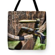 Weathered Tap And Barrel Tote Bag by Paul Ward