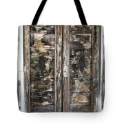 Weathered Wood Door Venice Italy Tote Bag