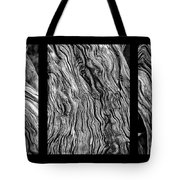 Weathered Wood Triptych Bw Tote Bag