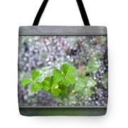 Web And Clover Art Tote Bag