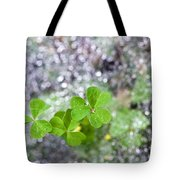 Web And Clover Tote Bag