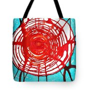 Web Of Life Original Painting Tote Bag