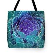 Webbed Succulent In Teal Tones Tote Bag