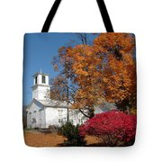 Webster Church On A Fall Day Tote Bag