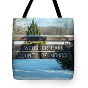 Webster Park Sign Tote Bag