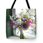 Wedding Bouquet Near A Window Tote Bag