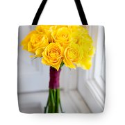 Wedding Bouquet Of Yellow Roses Tote Bag