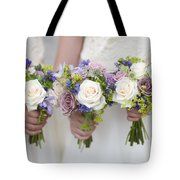 Wedding Bouquets Held By Bridesmaids Tote Bag