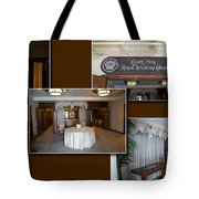 Wedding Chapel Collage Queen Mary Ocean Liner Long Beach Ca Tote Bag
