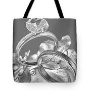 Wedding Ring Cake Gray Tote Bag