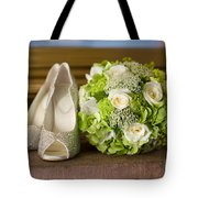 Wedding Shoes And Flowers Bouquet Tote Bag
