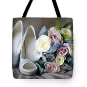 Wedding Shoes And Flowers Tote Bag