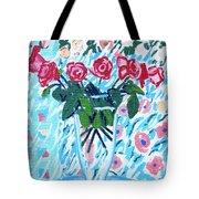 Weekend Roses Tote Bag