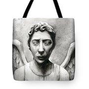 Weeping Angel Don't Blink Doctor Who Fan Art Tote Bag