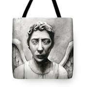 Weeping Angel Don't Blink Doctor Who Fan Art Tote Bag