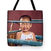 Weeping Baby In His Buggy Tote Bag
