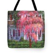 Weeping Cherry By The Veranda Tote Bag