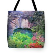 Weeping Rock At Zion National Park Tote Bag