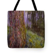 Weeping Willow And The Waterlily Pond Tote Bag