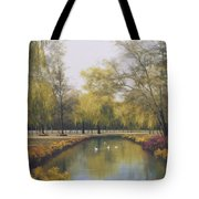Weeping Willow Tote Bag by Diane Romanello