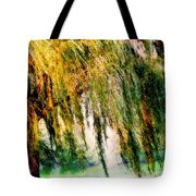 Weeping Willow Tree Painterly Monet Impressionist Dreams Tote Bag