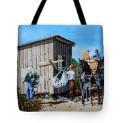 Weighing Cotton In The Field 1930s Tote Bag