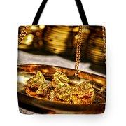 Weighing Gold Tote Bag