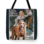 Weimaraner Art Canvas Print - A Streetcar Named Desire Movie Poster Tote Bag
