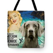 Weimaraner Art Canvas Print - River Of No Return Movie Poster Tote Bag