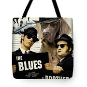 Weimaraner Art Canvas Print - The Blues Brothers Movie Poster Tote Bag